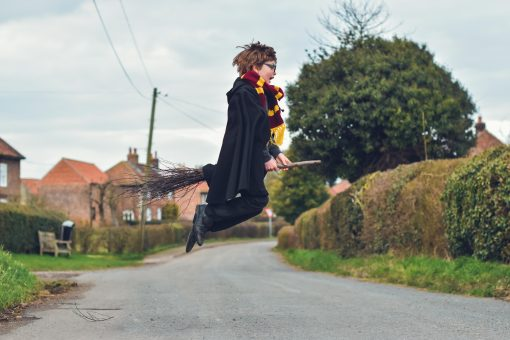 Waves and Wild Storybook Cape Harry Potter flying