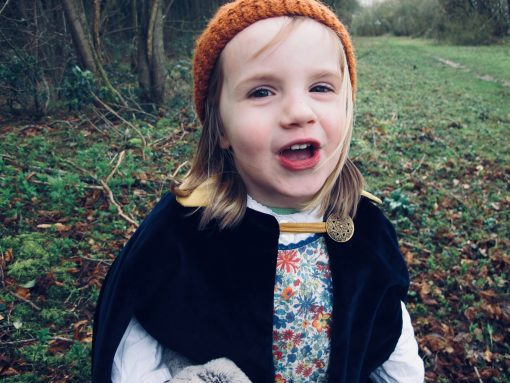 Waves and Wild Storybook Cape girl with beanie