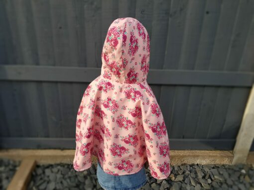 Waves and Wild Storybook Cape girl with style from behind