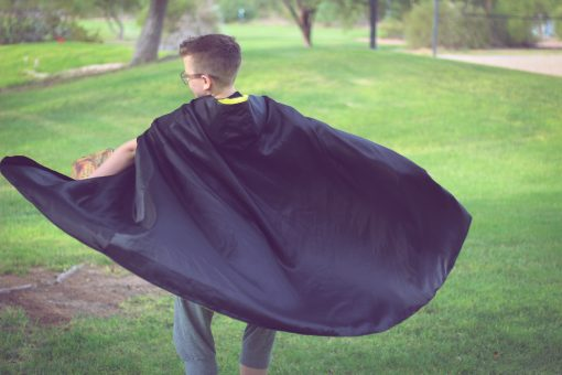 Waves and Wild Storybook Cape Hufflepuff robe swish from behind